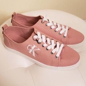 Pink Calvin Klein Sneakers, Size 10
